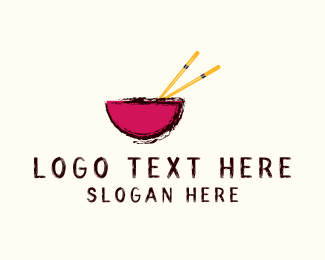 Bowl - Bowl & Chopsticks  logo design