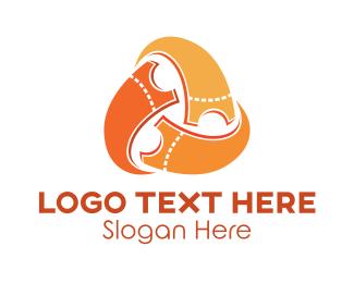 Pass - Ticket Swirl logo design