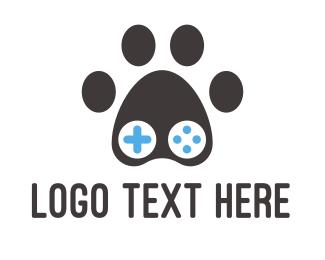 Remote - Paw Controller logo design