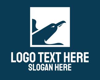Eagle - White Seagull Aviation logo design