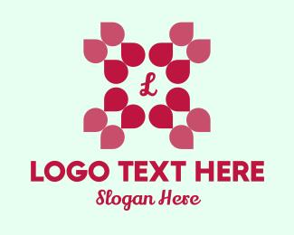 Petals - Pink Petals Lettermark logo design