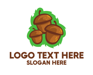 Hazelnut - Three Acorns logo design
