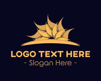 Oriental - Golden Oriental Sun logo design