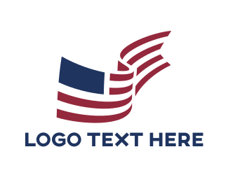 New York - American Flag Library logo design