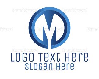 Asset Management - Letter M Circle logo design