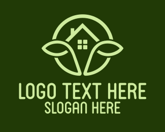 Farm - Green Farm House  logo design