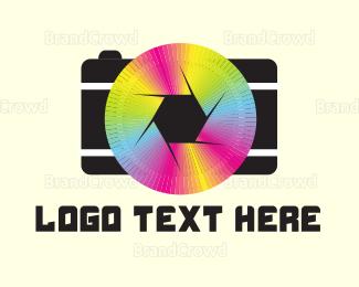 Editor - Rainbow Camera logo design