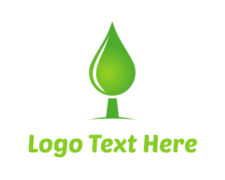 Green House - Green Water Tree logo design