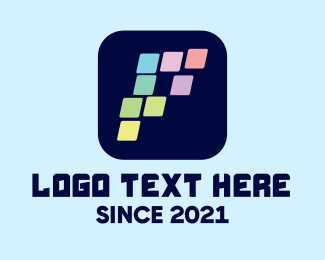 Pixels - Pixel Application Letter P logo design