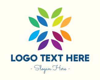 Colored - Rainbow Leaves logo design