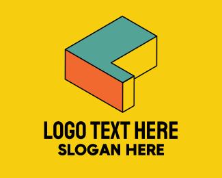 3d pixel letter l logo brandcrowd logo maker brandcrowd
