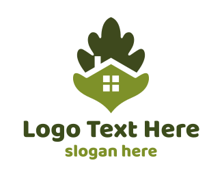 Architecture - Green Leaf House logo design