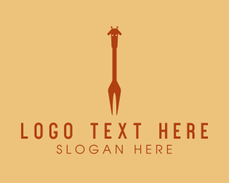 Giraffe - Giraffe Fork  logo design