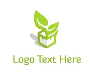 Foundations - Leaf Box logo design