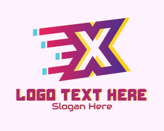Gadget Store - Speedy Letter X Motion logo design