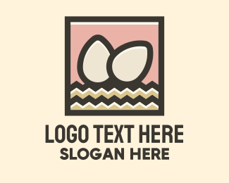 Frame - Egg Hay Frame logo design