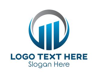 Business District - Modern Corporate Building logo design