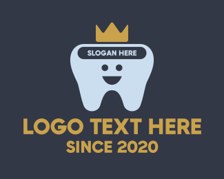 Braces - Happy Tooth King logo design