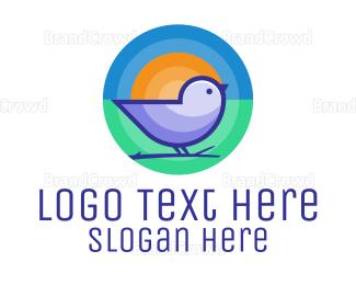 Small - Cute Little Bird logo design