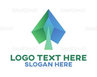 Card Game - Polygon Gambling logo design