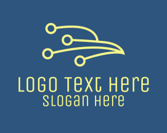 Data Server - Tech Abstract Bird   logo design