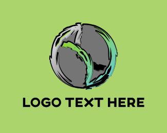 Rock - Abstract Planet logo design