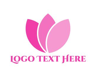 White And Pink - Pink Petals logo design
