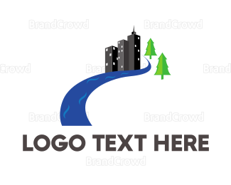 Creek - Urban River logo design