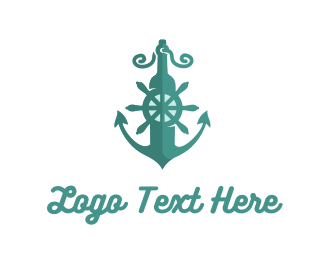 Wheel - Marine Anchor logo design