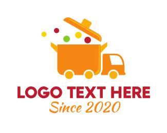 """Orange Food Truck"" by FishDesigns61025"