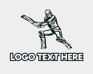 Player - Cricket Player logo design
