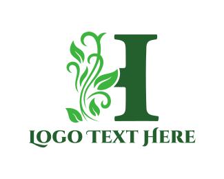 Letter H - Floral Letter H logo design