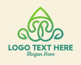 Vegan - Vegan Letter A logo design