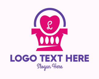 Shopping Basket - Lovely Boutique Store Lettermark logo design