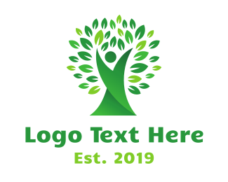 Flexible Green Tree Logo
