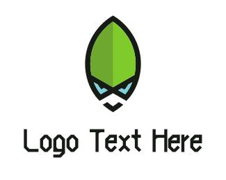 Alien - Green Alien logo design