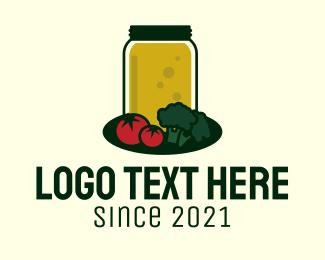 Jar - Vegetable Juice Jar logo design