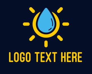 Wet - Liquid Sun Lotion logo design