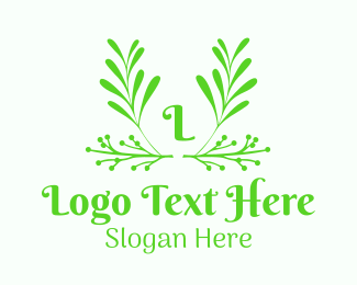 Mistletoe - Green Foliage Letter logo design