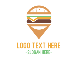 Gps - Cheeseburger Pin logo design
