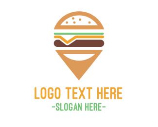 Route - Cheeseburger Pin logo design