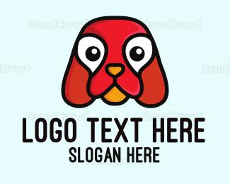 Breeder - Cute Red Puppy logo design