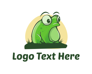 Pond - Swamp Frog logo design