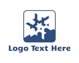 Season - Star Snowflake logo design