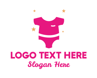 Maternity - Pink Baby Clothing logo design