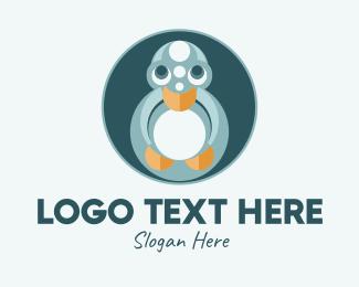 Duck - Cute Young Duck  logo design