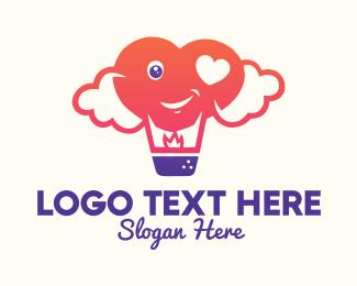 Clouds - Love Air Balloon logo design