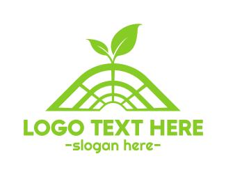Net - Green Net logo design