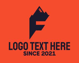 Letter F - Mountain Letter F logo design