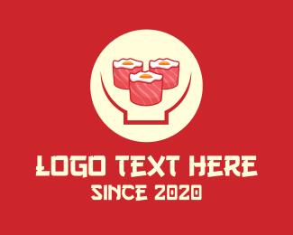 Resto - Japanese Sushi Restaurant logo design